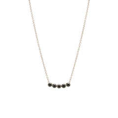 Zoë Chicco 14kt White Gold Five Black Diamond Necklace