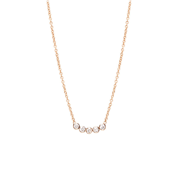 Zo 235 Chicco Zo 235 Chicco 14kt Gold Five Diamond Necklace