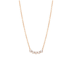 Zoë Chicco 14kt Rose Gold Five Diamond Necklace