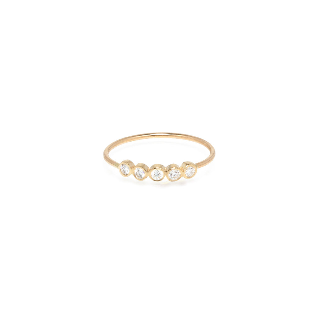 14k 5 diamond ring