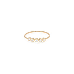Zoë Chicco 14kt Yellow Gold 5 White Diamond Ring