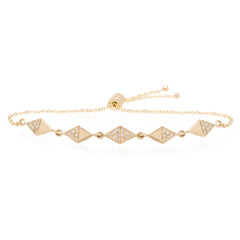 Zoë Chicco 14kt Yellow Gold Harlequin Diamond Bolo Bracelet