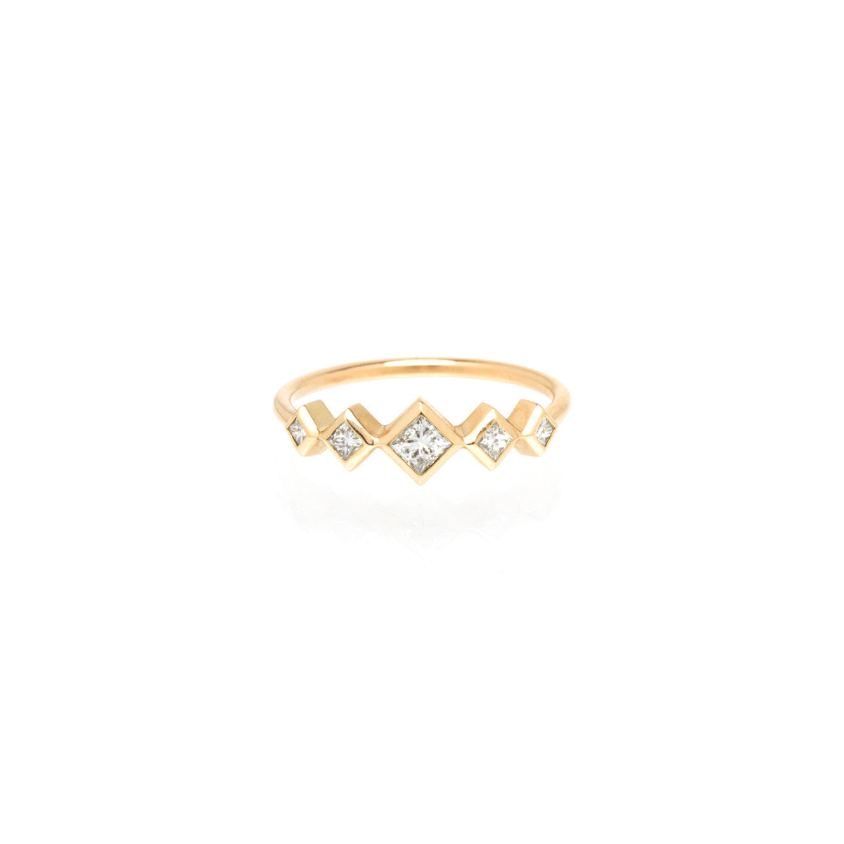 Zoë Chicco 14kt Yellow Gold Graduated Princess Diamond Ring