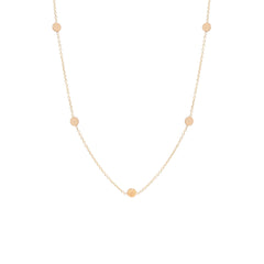 Zoë Chicco 14kt Rose Gold Itty Bitty 5 Disc Necklace
