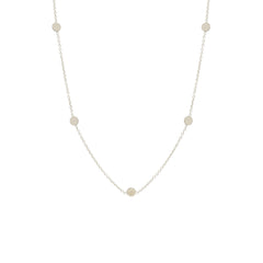 Zoë Chicco 14kt White Gold Itty Bitty 5 Disc Necklace