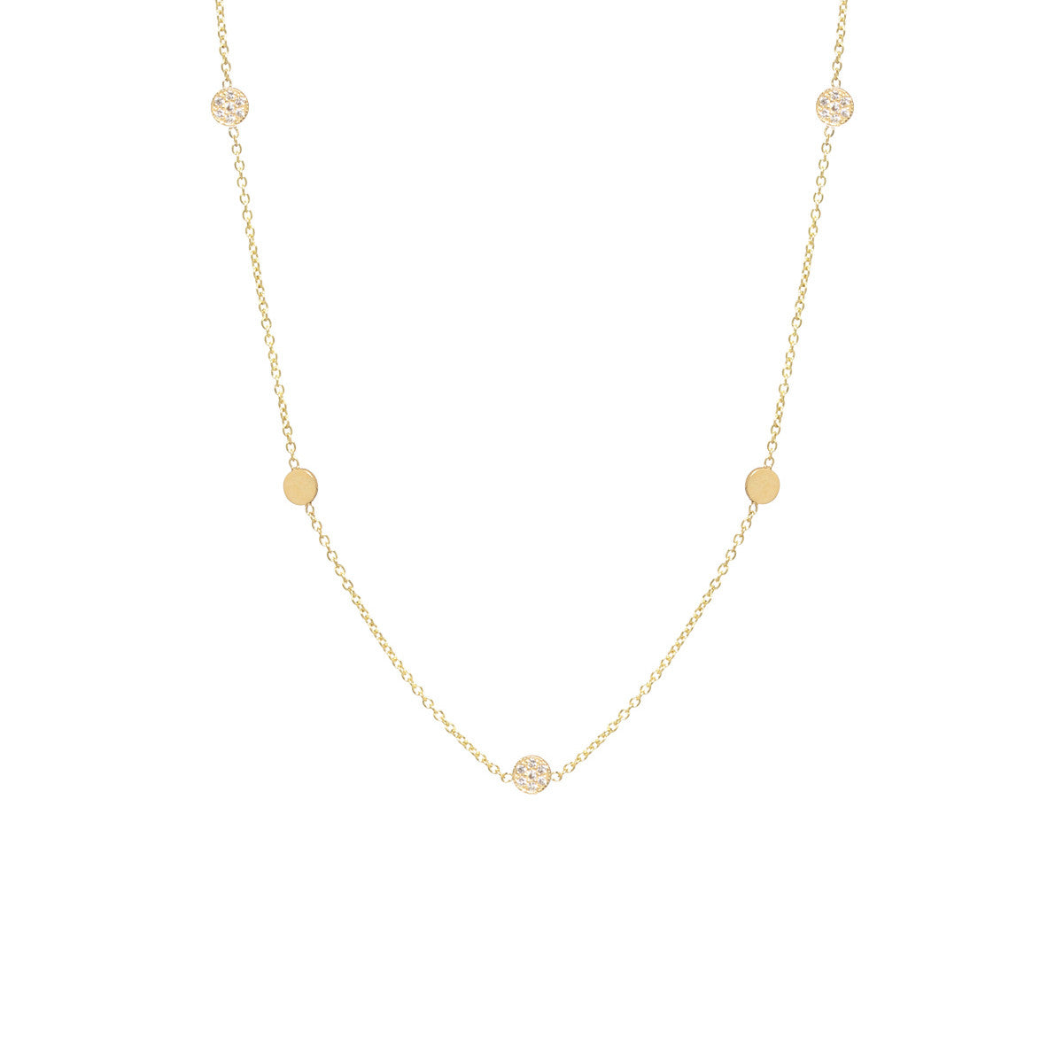 Zoë Chicco Pavé Diamond Initial Disc Pendant Necklace QJZEy