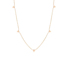 Zoë Chicco 14kt Rose Gold Itty Bitty 5 Triangles Necklace