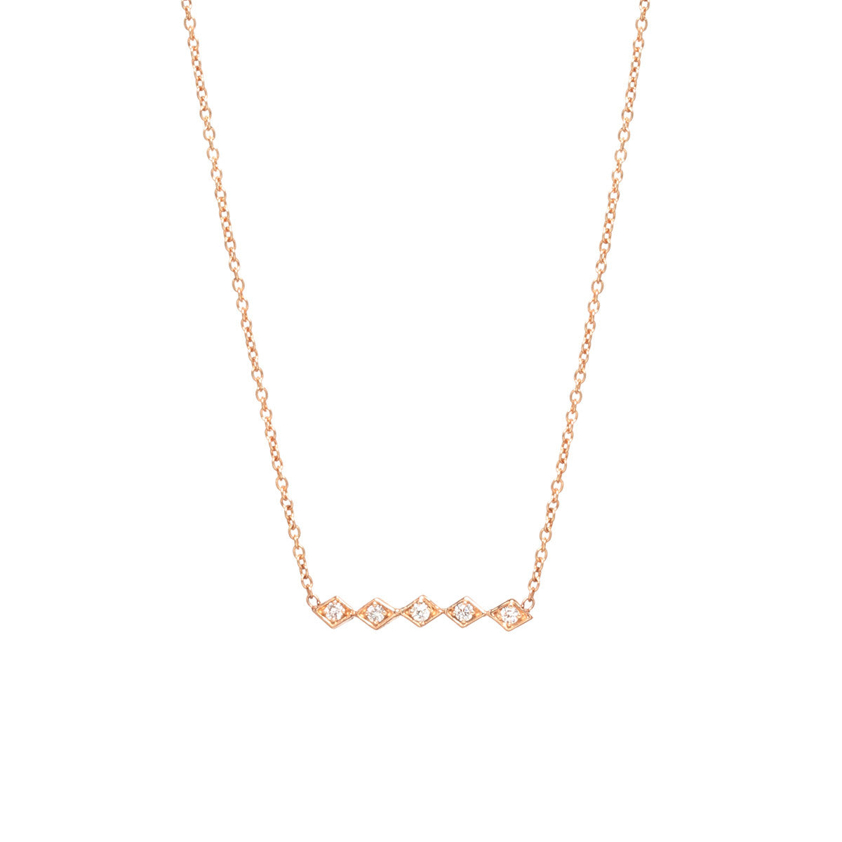Zo chicco zo chicco 14kt gold 5 horizontal tiny diamond shaped zo chicco 14kt rose gold 5 horizontal tiny diamond shaped bar necklace mozeypictures Gallery