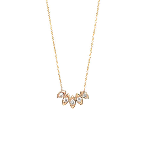 14k marquis shape diamond necklace