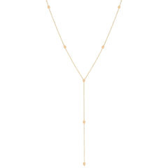 Zoë Chicco 14kt Yellow Gold Itty Bitty Teardrop Lariat