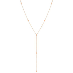 Zoë Chicco 14kt Rose Gold Itty Bitty Teardrop Lariat