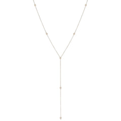 Zoë Chicco 14kt White Gold Itty Bitty Teardrop Lariat