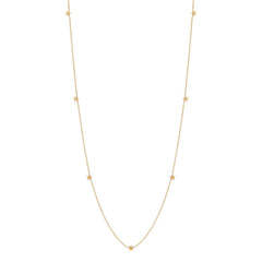 Zoë Chicco 14kt Yellow Gold Itty Bitty Star Long Necklace