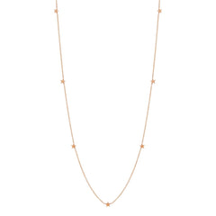 Zoë Chicco 14kt Rose Gold Itty Bitty Star Long Necklace