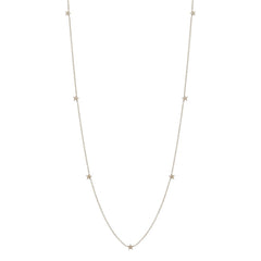 Zoë Chicco 14kt White Gold Itty Bitty Star Long Necklace