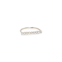 14k 9 diamond bar ring