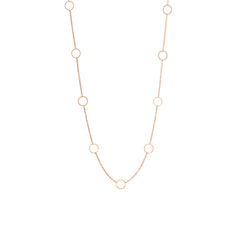 14k nine circles choker necklace