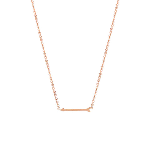 arrow necklace karat gold index inch sideways white details