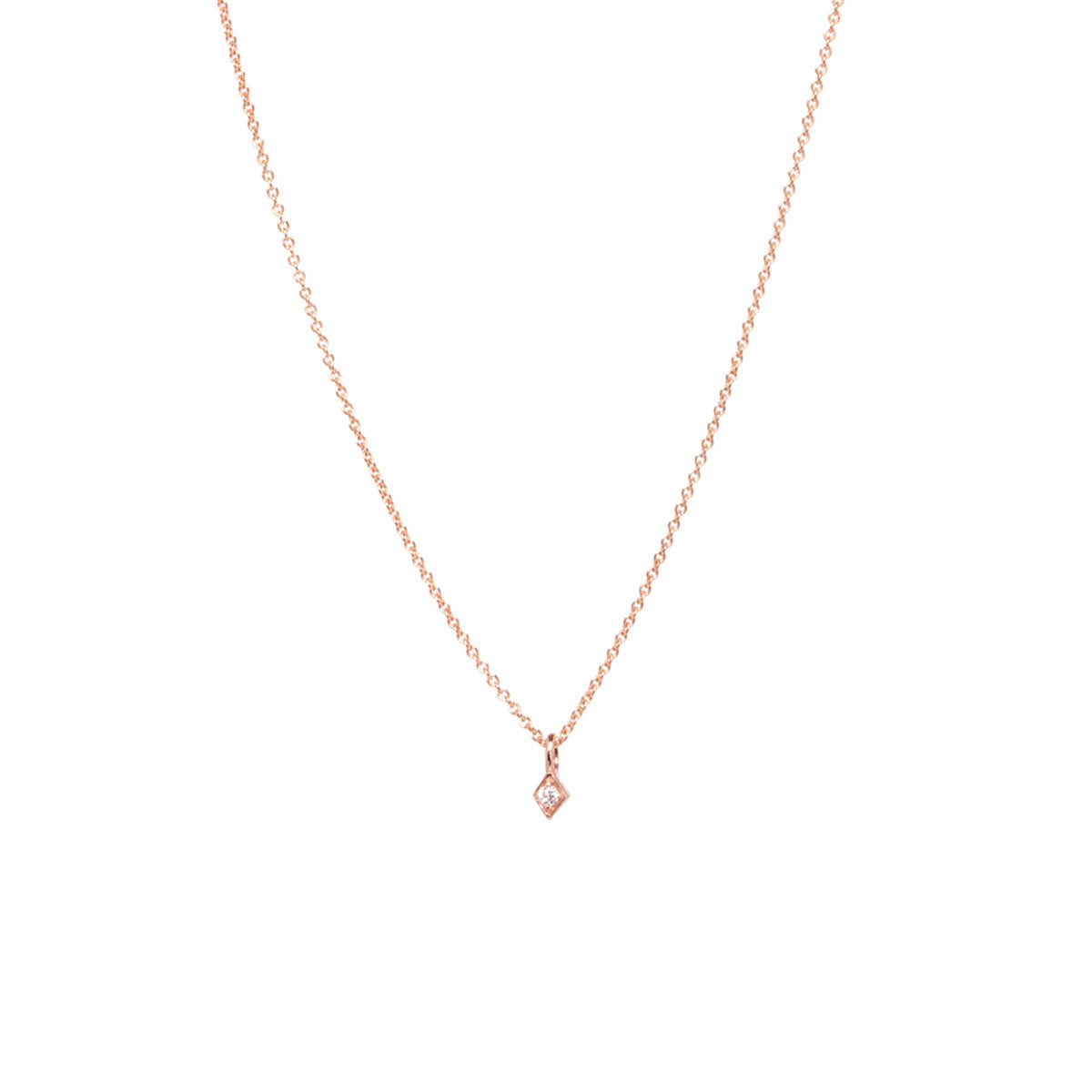 Zo chicco 14k tiny diamond shaped necklace 14k tiny diamond shaped necklace mozeypictures Image collections