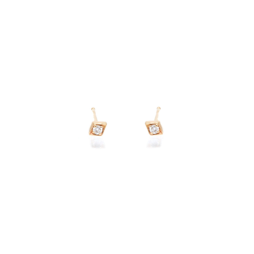 14k tiny diamond studs