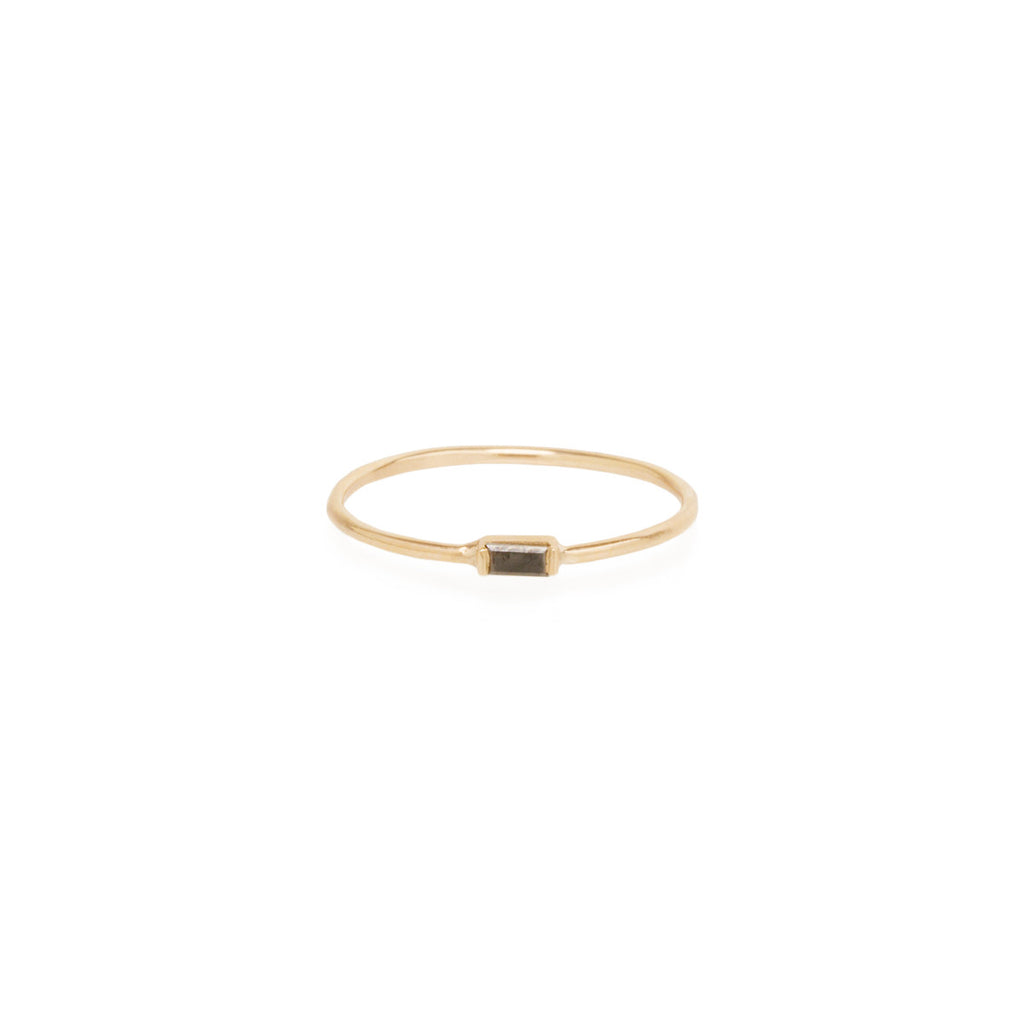 Zoë Chicco 14kt Yellow Gold Horizontal Black Baguette Diamond Ring