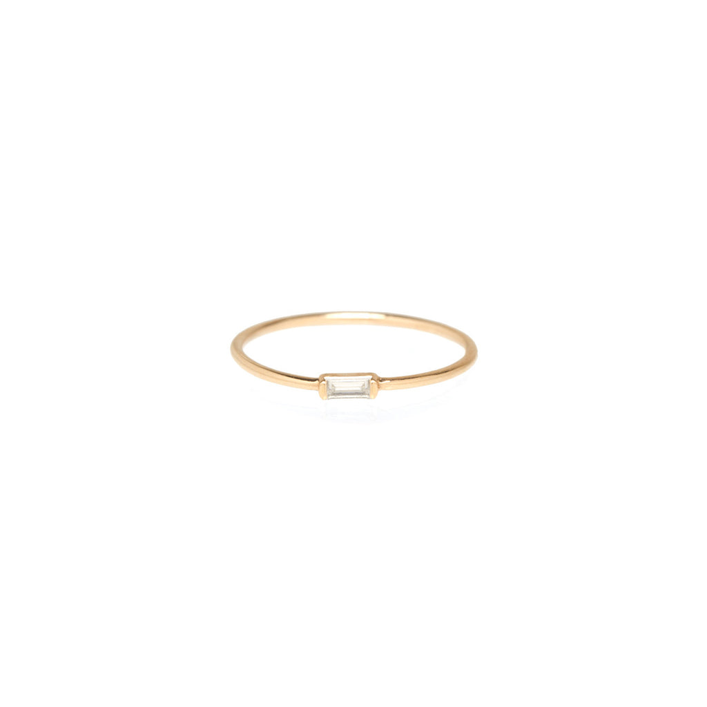14k horizontal baguette ring