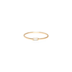 Zoë Chicco 14kt Yellow Gold Horizontal Baguette Diamond Ring