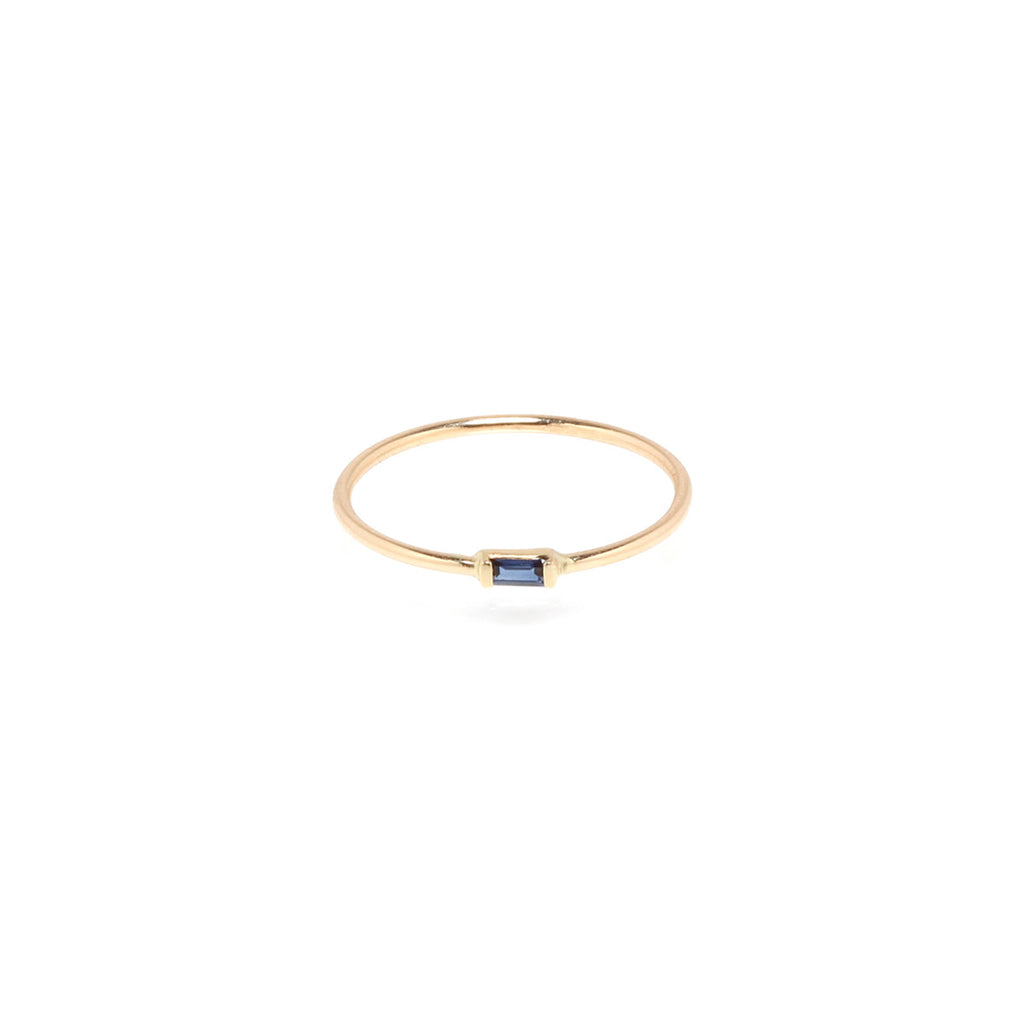 Zoë Chicco 14kt Yellow Gold Horizontal Set Sapphire Baguette Ring