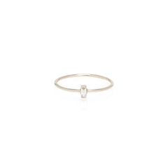 14k vertical baguette ring