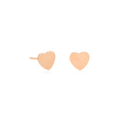 Zoë Chicco 14kt Rose Gold Heart Stud Earrings
