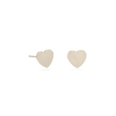 Zoë Chicco 14kt White Gold Heart Stud Earrings