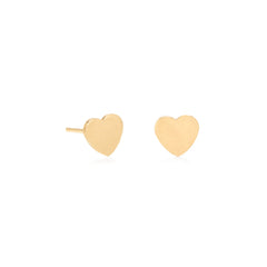 Zoë Chicco 14kt Yellow Gold Heart Stud Earrings