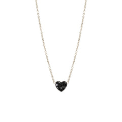 Zoë Chicco 14kt White Gold Black Heart Diamond Pave Necklace