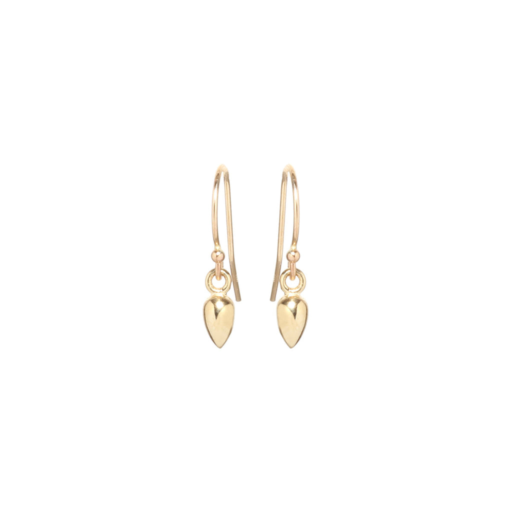 Zoë Chicco 14kt Yellow Gold Bullet Drop Earrings