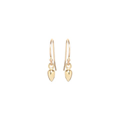 14k bullet drop earrings