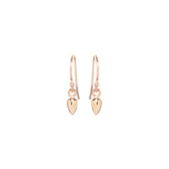 Zoë Chicco 14kt Rose Gold Bullet Drop Earrings