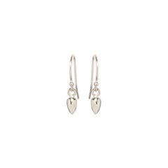 Zoë Chicco 14kt White Gold Bullet Drop Earrings