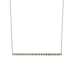 long spiked bar necklace