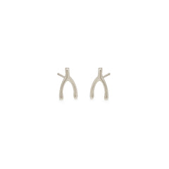 14k tiny wishbone studs