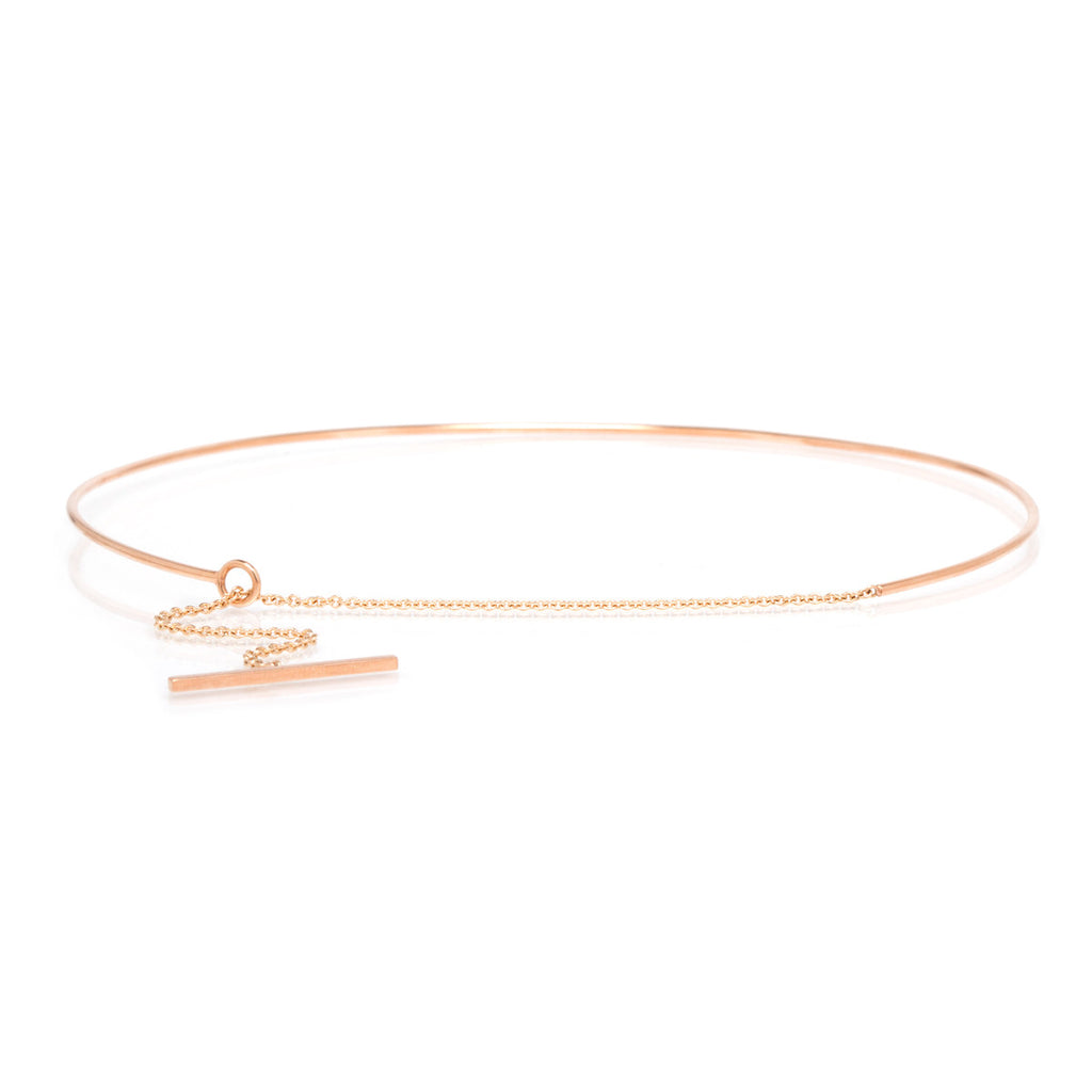 14k toggle chain choker