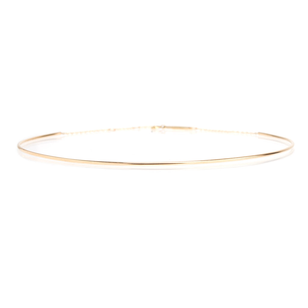 14k wire choker necklace