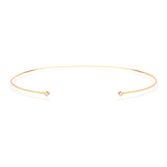 14k princess diamond open choker necklace