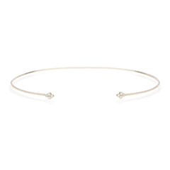 14k quad diamond open choker necklace