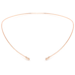 14k open diamond collar necklace