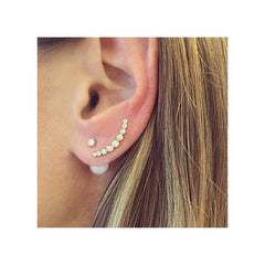Zoë Chicco 14kt Gold Graduated Bezel Set Diamond Ear Shield