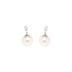 Zoë Chicco 14kt White Gold White Diamond and Pearl Reversible Stud Earrings