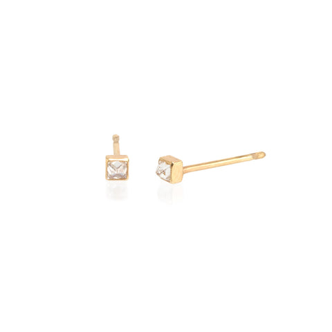 d66b88e99 Zoë Chicco – Zoë Chicco 14kt Gold Inverted White Diamond Spike Stud ...