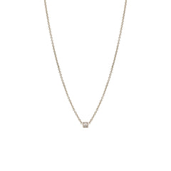 14k baby diamond spike necklace