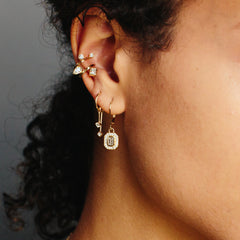 14k Paris double ear cuff