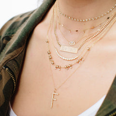 14k diamond tennis choker